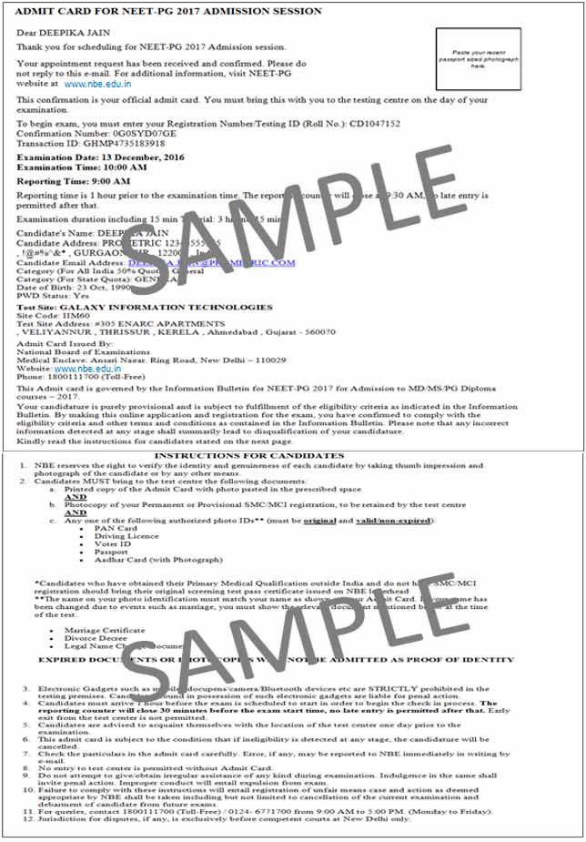 re entering the neet pg registration system